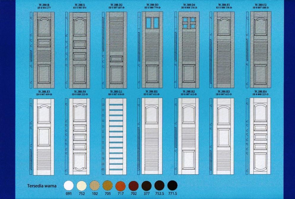 Katalog Type Pintu Garasi Wina beserta Contoh Warna